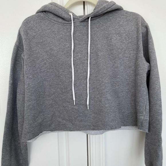 Gray Crop Hoodie